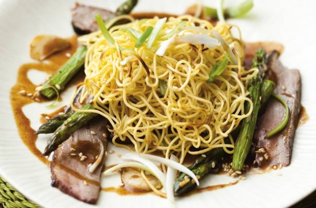 duck with crispy noodles