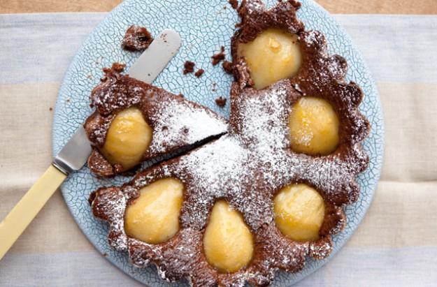Pear and chocolate cake recipe