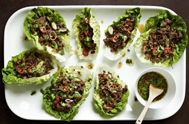 Gordon Ramsay's chilli beef lettuce wraps   Gordon Ramsay recipes
