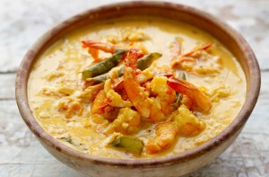 Jamie Oliver's prawn curry