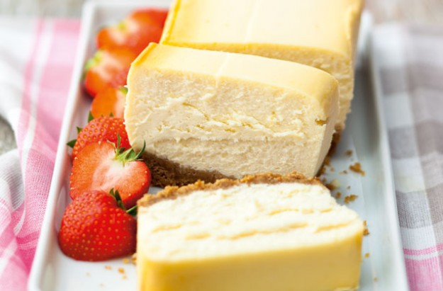This yummy, classic cheesecake is so easy to make. Serve with strawberries or other berries for that refreshing taste.
