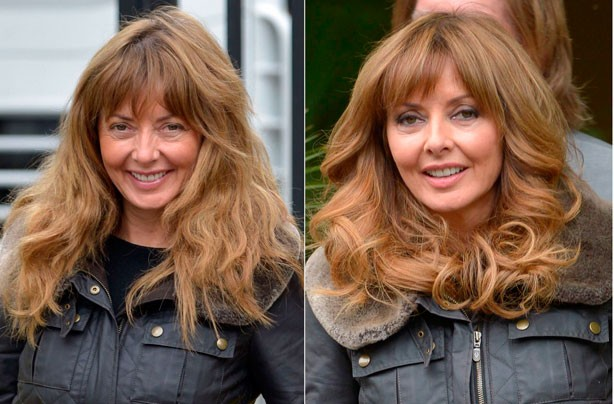Carol Vorderman without make-up