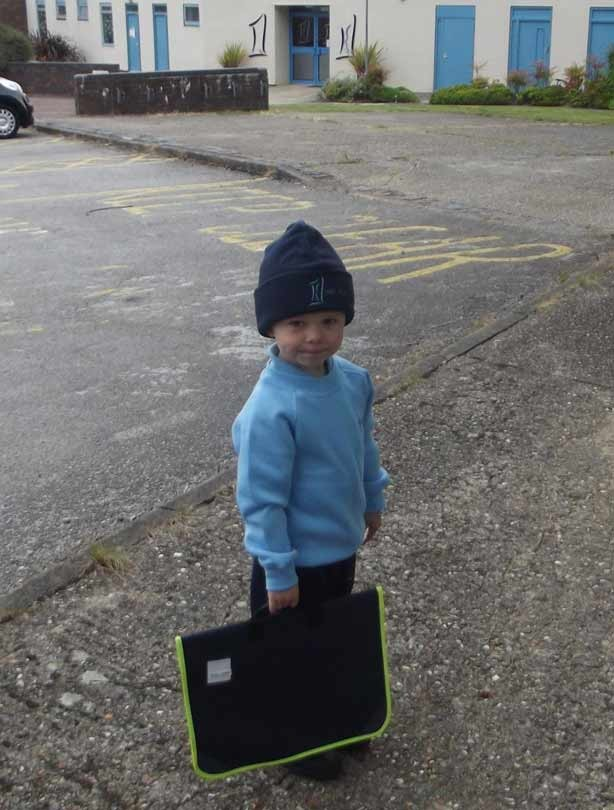 Nathan's first day at school
