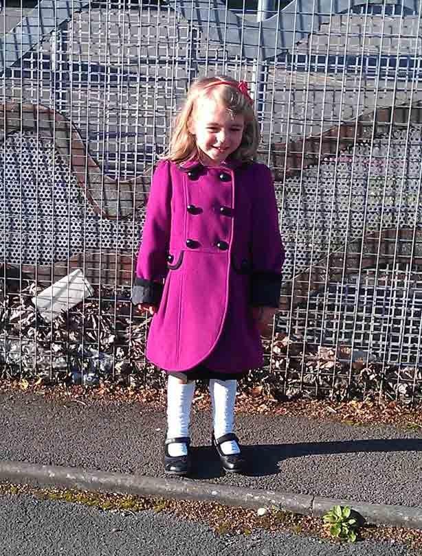 Soraya daughter's first day at school