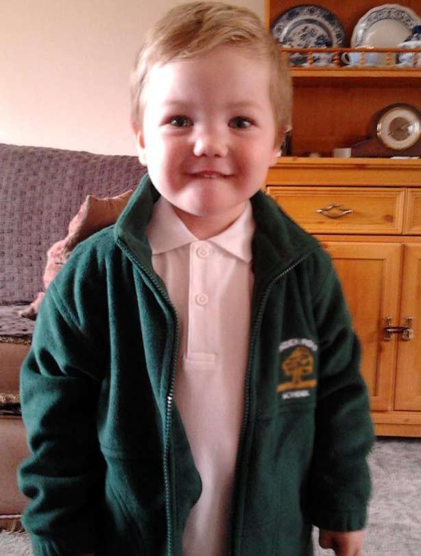 Travis' first day at school