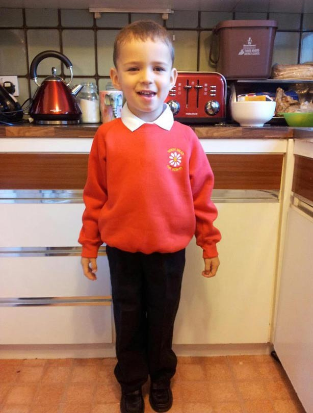 James' first day at school picture