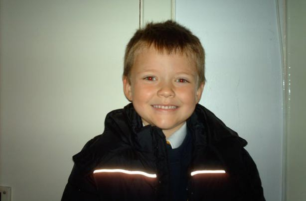 Nathan's first day at school picture