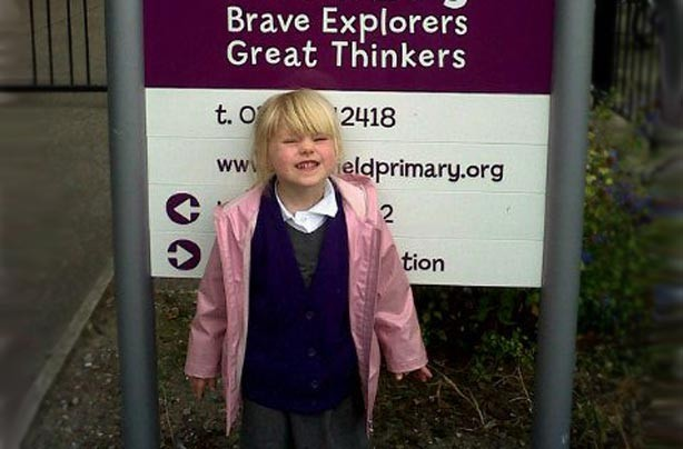 Morgan's first day at school