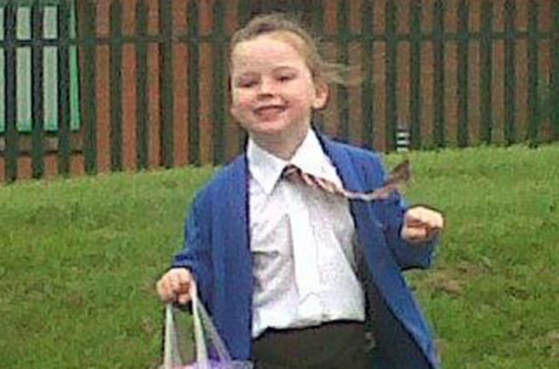 Evie's first day at school