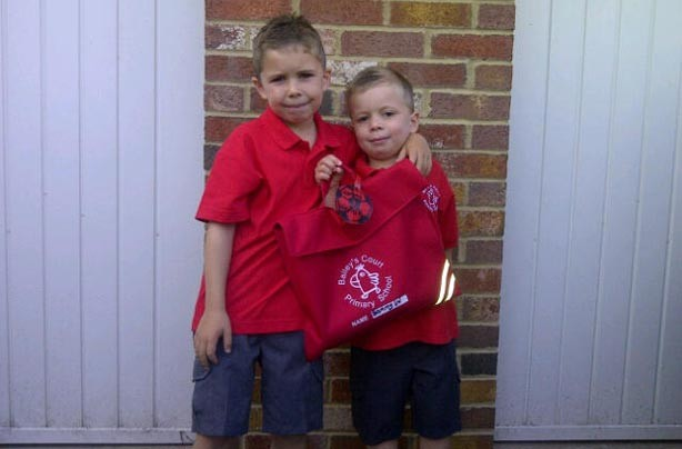 Sam and Billy's back to school picture