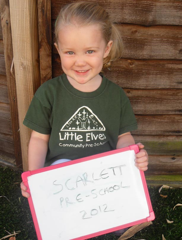 Scarlett's first day at school picture