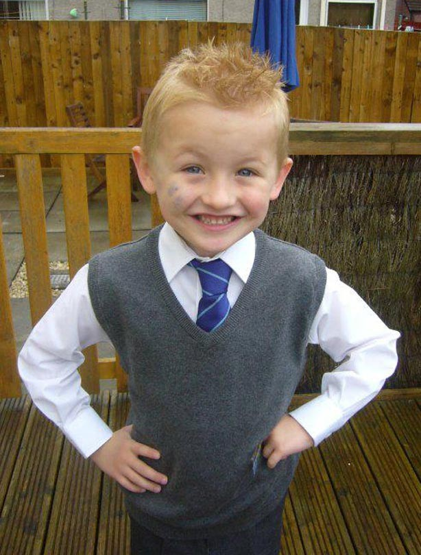 Jamie's first day at school picture