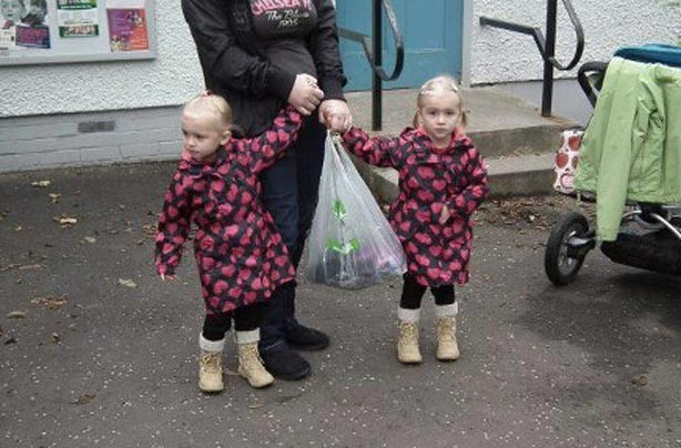 Chelsea and Lily's first day at school picture