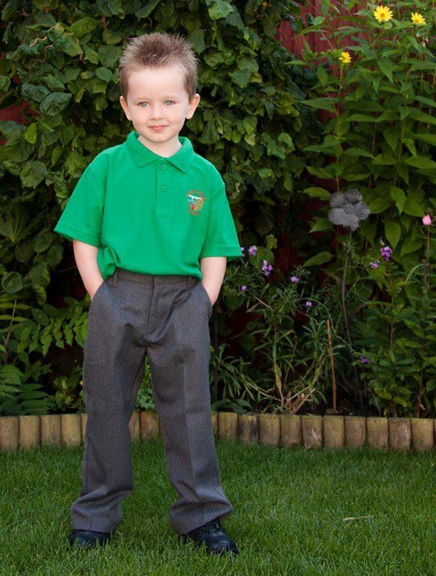 Callum's first day at school picture