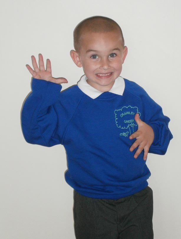 Stephen's first day at school picture