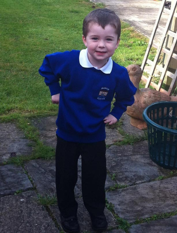John's first day at school photo