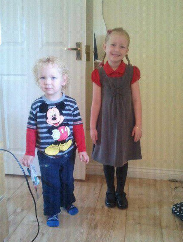 Lois' and Jude's first day at school picture