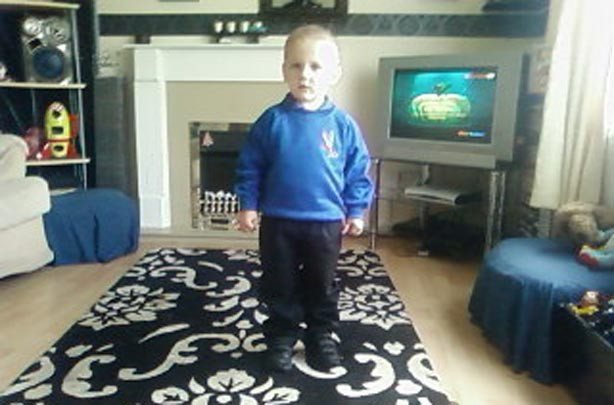 Gem Moores' son's first day at school picture