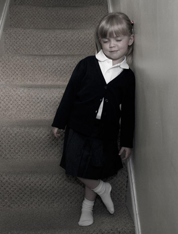 Sophie's first day. at school picture