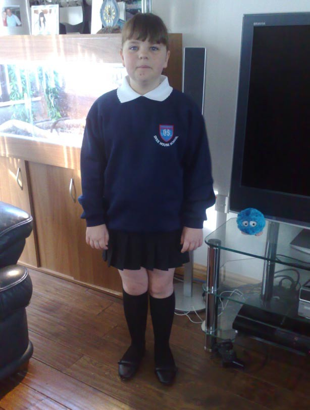 Sam's daughter's first day at school picture