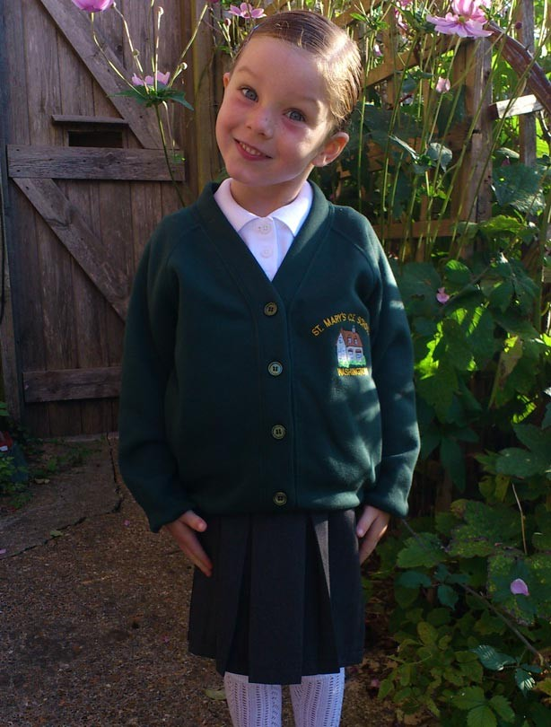 Isobelle's first day at school picture