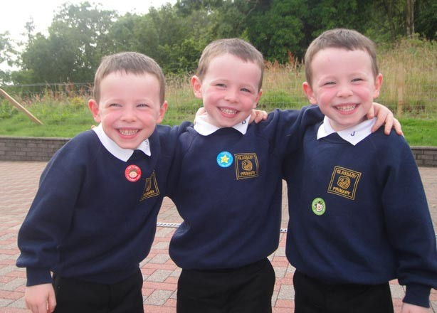 Lesley's 3 boy's first day at school picture