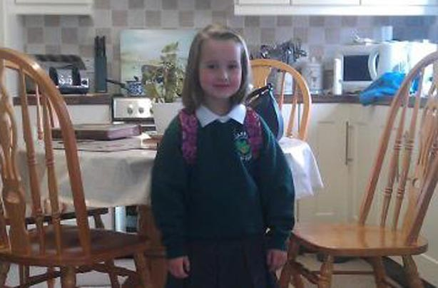 Mya's first day at school picture