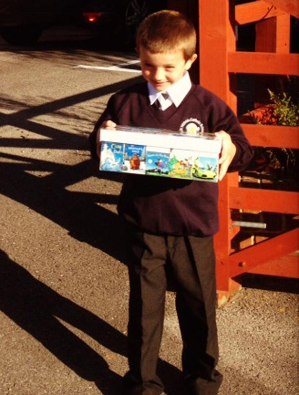 Thomas' first day at school picture