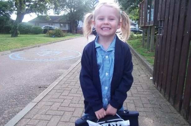 Caoimhe's first day at school picture