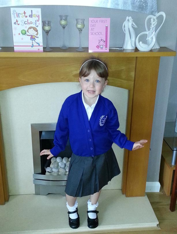 Lexie's first day at school picture