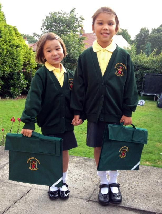 Ava and Evie's first day at school picture