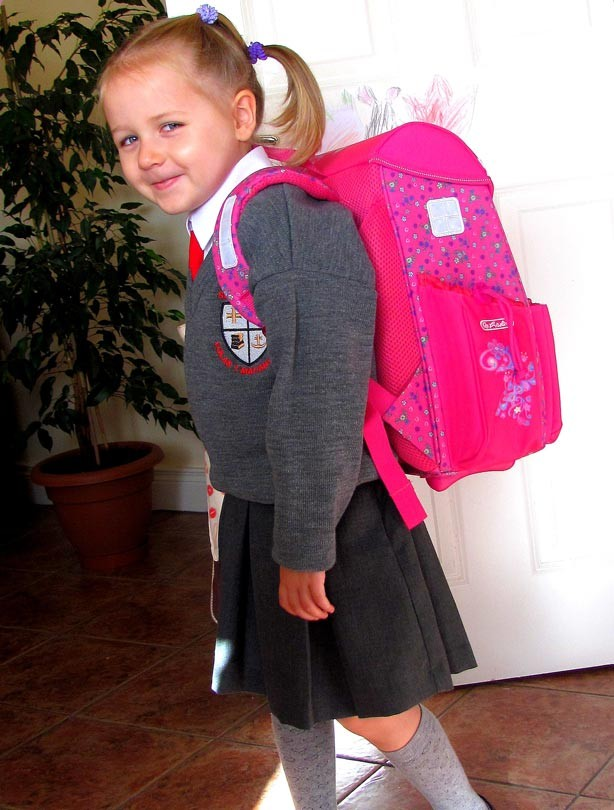 Emily's first day at school picture