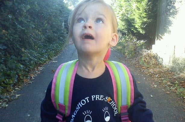 Alisha's first day at school picture