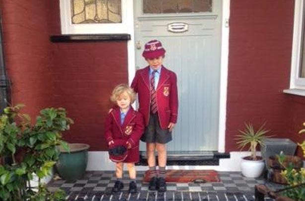Tessa's kid's first day at school picture