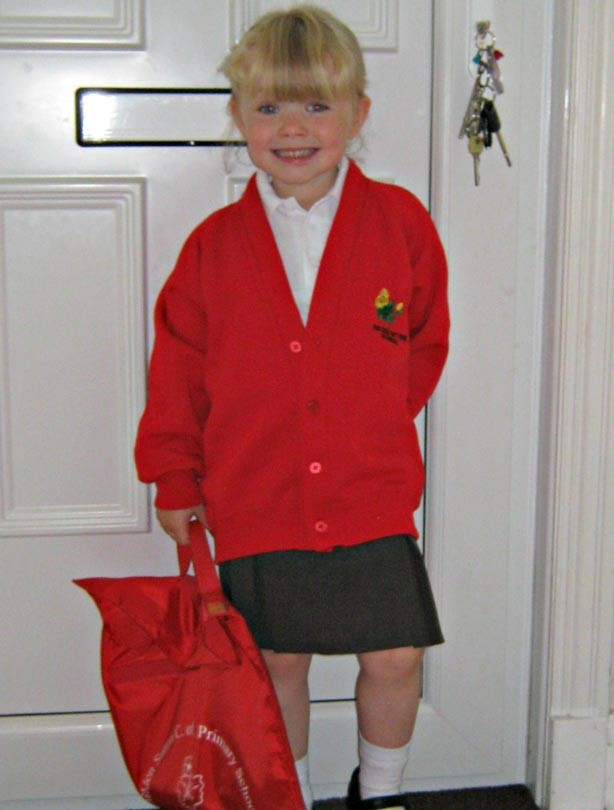 Scarlett Rose's first day at school picture