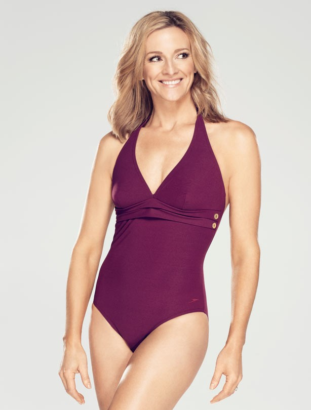 Gabby Logan in speedosculpture Aqua Deluxe