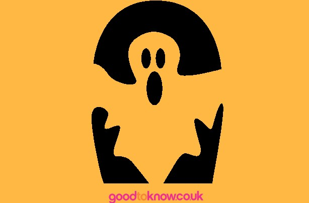 Ghost Halloween pumpkin carving template