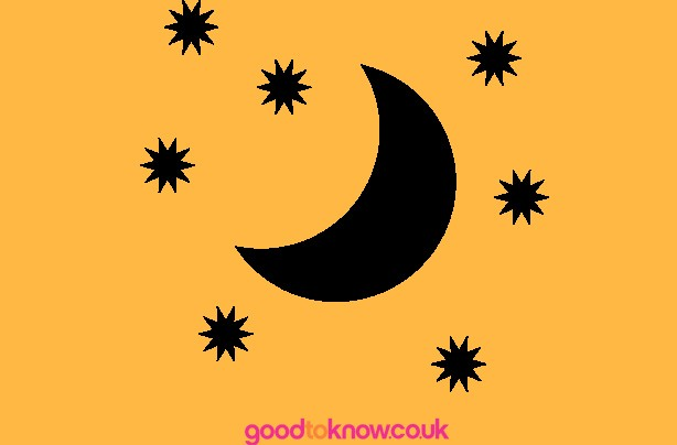 Moon and stars Halloween pumpkin carving template