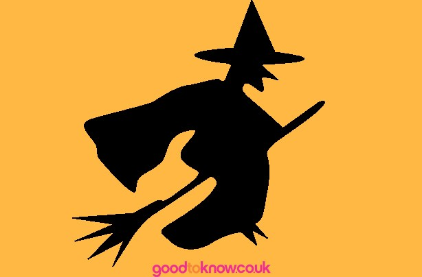 Witch Halloween pumpkin carving template