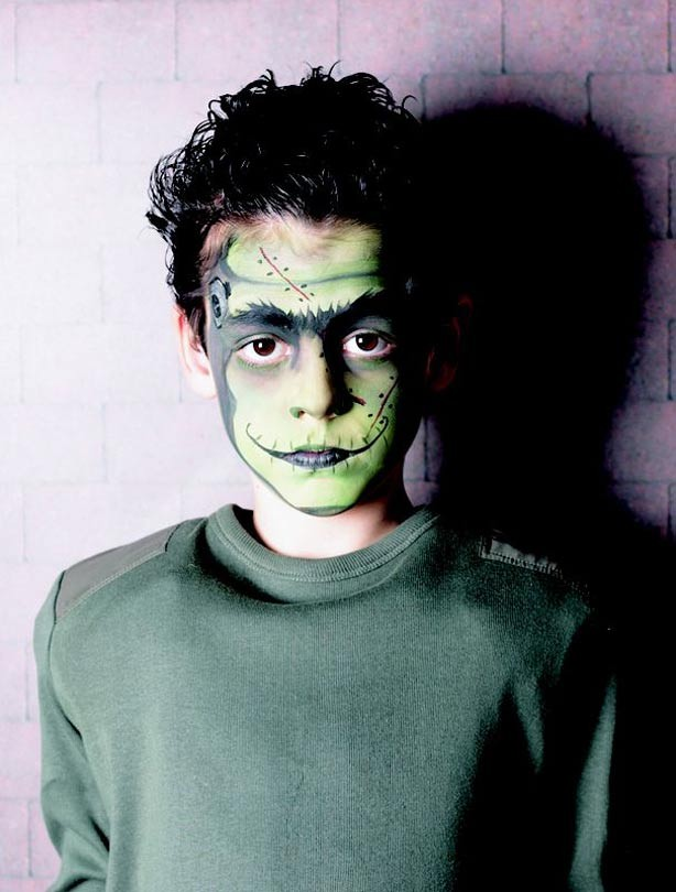 Frankenstein face paint - goodtoknow