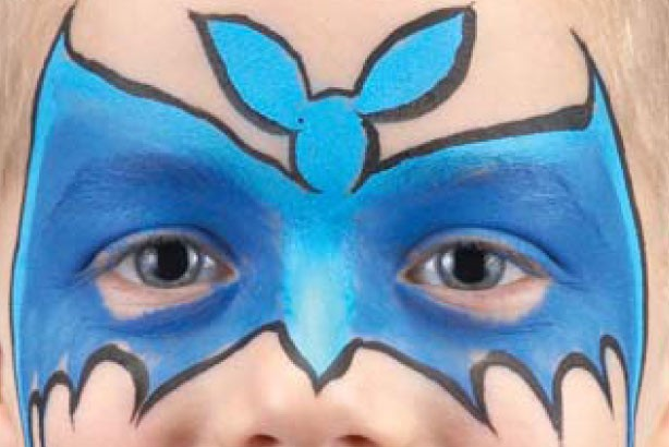 Bat face paint idea: step 3