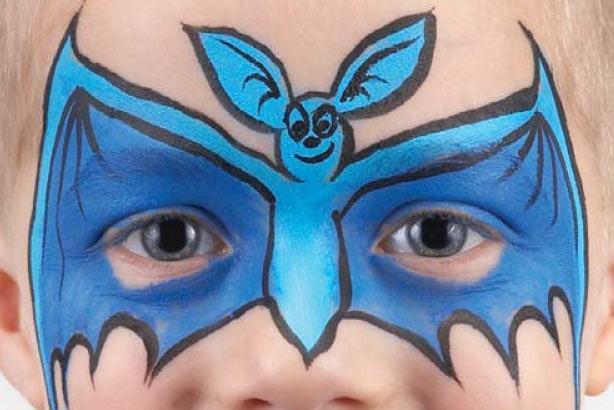 Bat face paint idea: step 4
