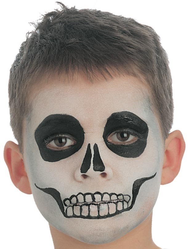 skeleton face paint step 3 for the mouth - Skeleton Face Paint For Halloween