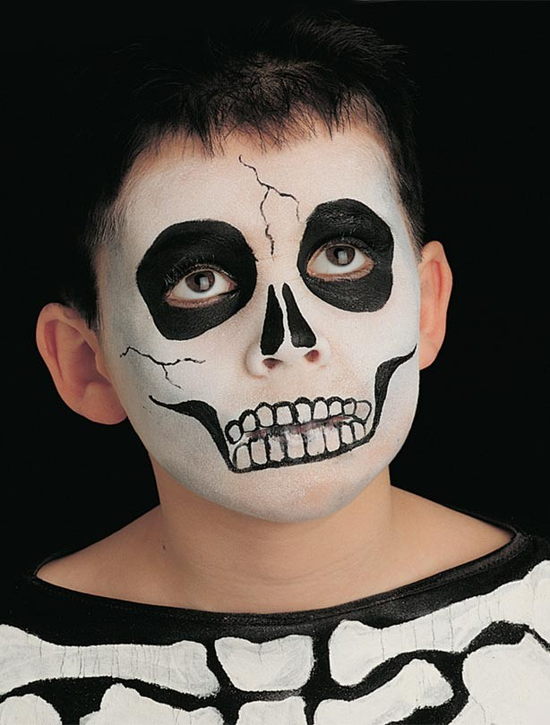 skeleton face paint for halloween - Halloween Skull Face Paint Ideas