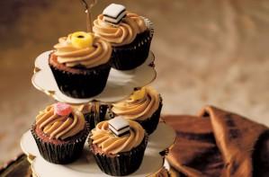 Fiona Cairns Liquorice toffee cupcakes
