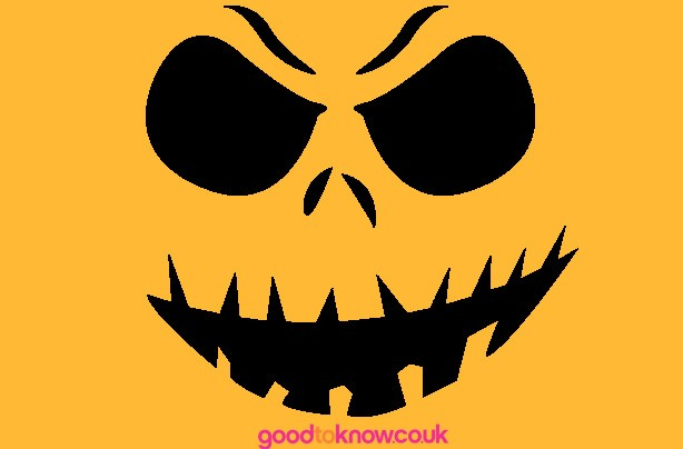 Scary Jack O'Lantern pumpkin carving pattern