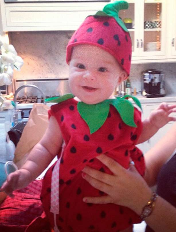 Jack Osbourne's daughter Pearl dressed as a strawberry