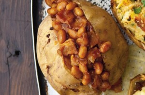 Jacket potato fillings bacon and spicy bean baked potato for Jacket potato fillings mushroom