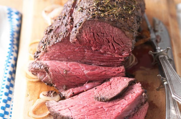 Mustard and thyme roast beef