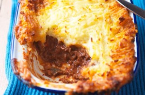 This delicious cottage pie is using our basic mince. It is a classic family favourite and is very easy to make.